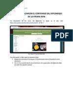 Acceder a la información del diplomado en sites