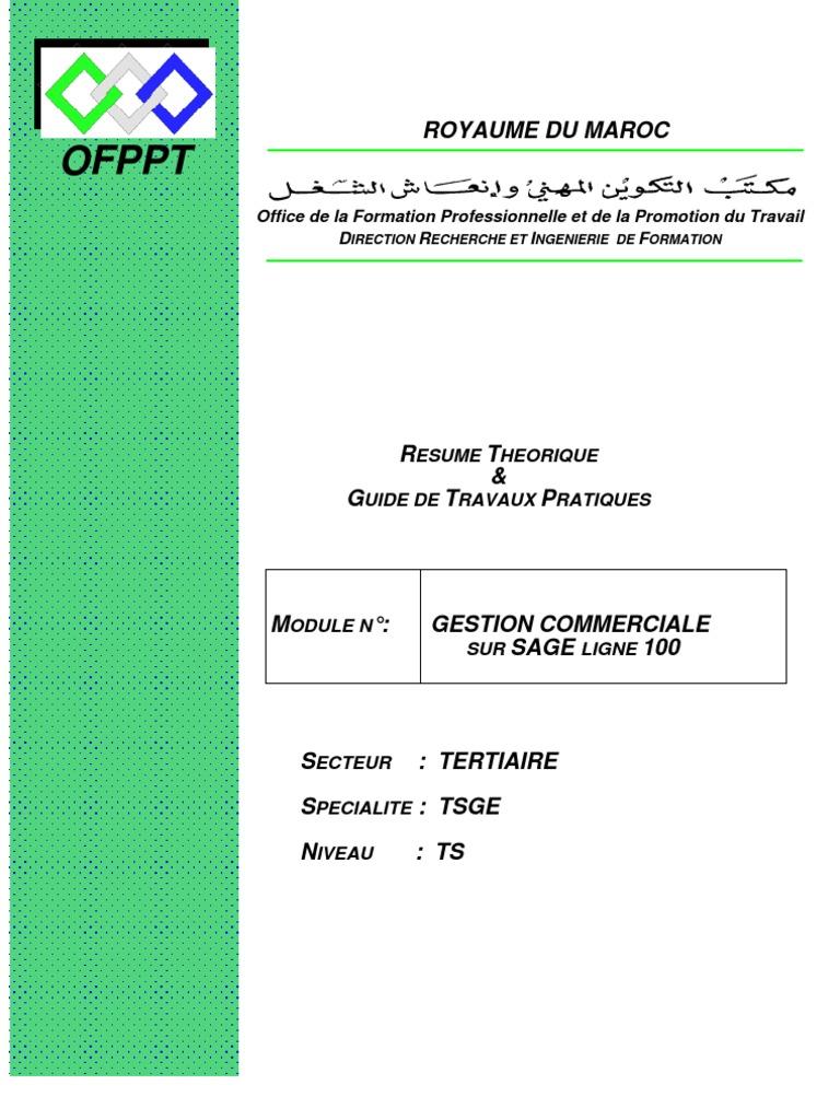 GESTION COMMERCIALE TÉLÉCHARGER GRATUITEMENT 100 SAGE 15.01