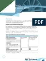 KBC Autolease Brochure Fiscale Voitures de Societe