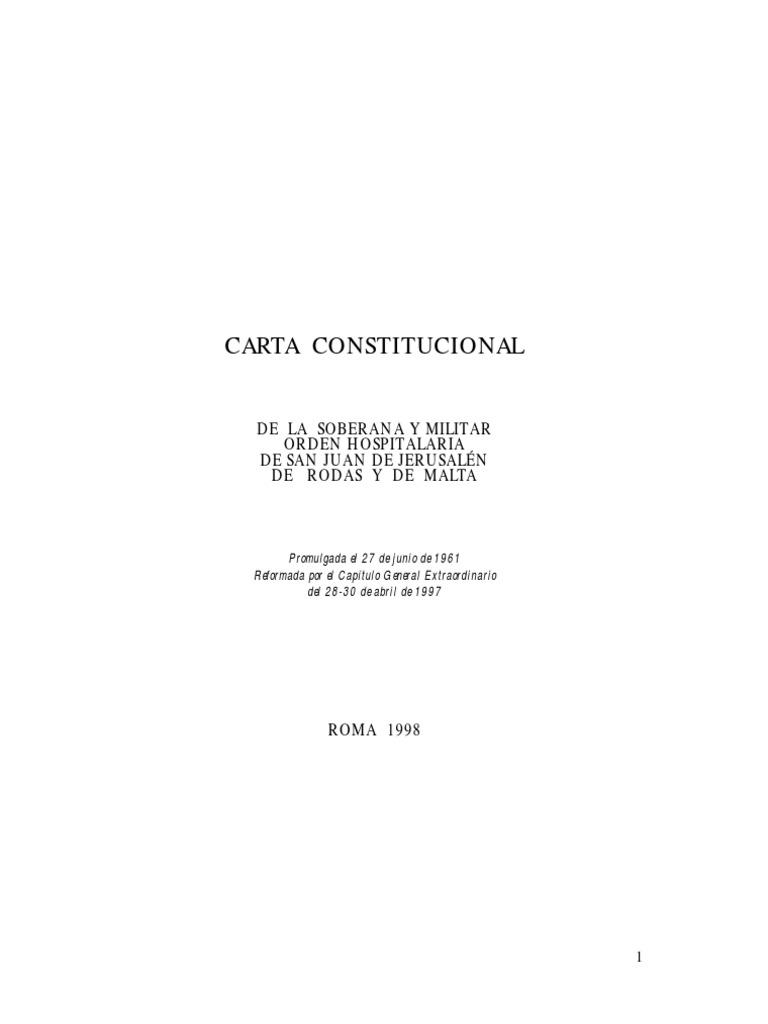 orden-de-malta-constitución
