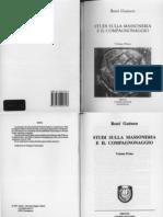 René Guénon - 1964 - Studi sulla Massoneria e il Compagnonaggio (Vol. 1)