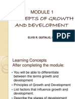Module 1 Concept of Growth and Development