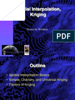 Spatial Interpolation, Kriging