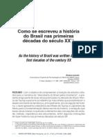 ANHEZINI - Como Se Escreveu a Hisotria Do Brasil Nas Primeiras Decadas Do Sec XX