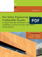 Fire Safety Engineering Design of Combustible Facades - Issue 1