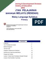 51008666 Sukatan Pelajaran Bahasa Melayu Rendah 2