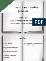 Prospectiva Personal de Luis Alfredo Jimenez R