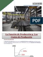 Teoria de la Producción y los  Costos