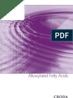 Alkoxylated Fatty Acids