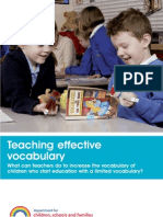 DCSF Teaching Effective Vocabulary