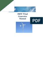 500W Wind Generator Manual