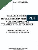 Secesija bivših jugoslovenskih republika u svetlosti odluka Ustavnog suda Jugoslavije(1)