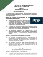 Proyecto Ley Sistema Nacional de Normalizacion y Acreditacion