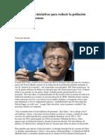 Bill Gates y sus iniciativas para reducir la población mundial