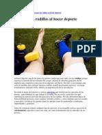 Proteger Las Rodillas Al Hacer Deporte