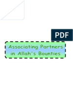 Associating Partners in Allah's Bounties