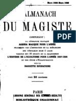 Encausse Gerard - L Almanach Du Magiste 1898