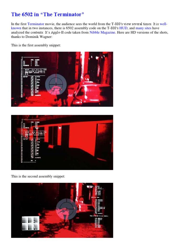 The 6502 in Terminator | Steve Jobs | Macintosh