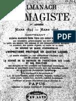 Encausse Gerard - L Almanach Du Magiste 1894