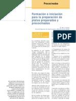 Formacion e Iniciacion Para La Preparacion de Platos Preparados y Precocinados