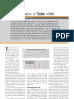 Cost economics of solar power