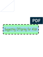 Suggesting Offspring for Allah