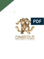 Cavalli Club Lounge Menu