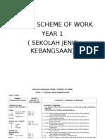 Yearly Scheme of Work Year 1 Sjk