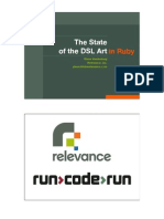 The State of the DSL Art in Ruby