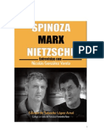 """""""Spinoza-Marx-Nietzsche. Entrevistas con Nicolás González Varela"""" por Salvador López Arnal (2013)"""