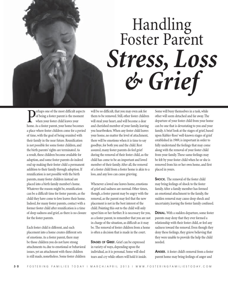 Handling Grief and Loss for Foster Parents.pdf | Grief | Foster Care