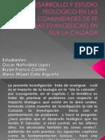 El Desarrollo y Estudio Teologico en Las Comunidades - Copia