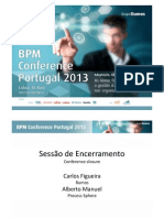 BPM Conference Portugal 2013 - Conference Closure - Alberto Manuel