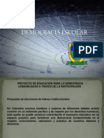 Proyecto Democracia Escolar Banco