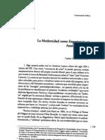 Ossandon, Carlos - La modernidad como experiencia en America Latina - CyM N°15