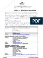Assessing Authorities Australian Immigration