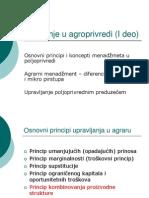 Upravljanje u Agroprivredi I Deo - 2007