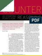Counterexamples as Starting Points for Reasoning & Sense Making (Yopp)