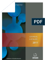 Journal Catalog 2011