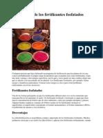Desventajas. Ventajas de Los Fertilizantes Fosfatados (1)