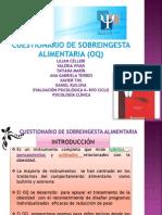 Cuestionario de Sobreingesta Alimentaria (Oq)