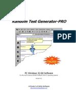 Random Test Generator-PRO - Software Manual