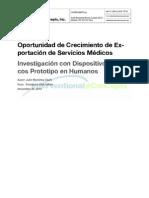 Investigación con dispositivos medicos prototipo en humanos en Colombia_Proexport