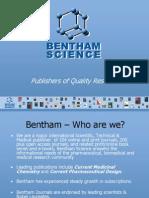 Bentham Science Presentation 2010