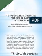 A TV DIGITAL NA TELEDUCAÇÃO
