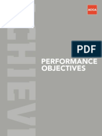 Performance Objectives Booklet