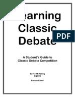 Learning Classic Debate