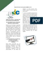PROBLEMAS ÉTICOS Y SOCIALES SOBRE EL TIC resumen
