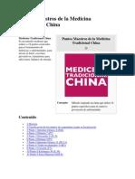 Puntos Maestros de La Medicina Tradicional China