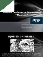 Género discursivo Memes